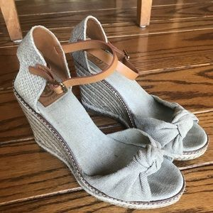 cdef5f8c4fda Tory Burch Shoes - Tory Burch Macy Linen Wedge Espadrille Sandals